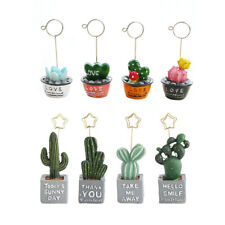 8 PCS Table Number Holder with Cactus Shape Base for Memo Cards Pictures Photos