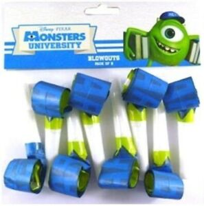 Monsters Inc /Uni Party Blowouts Horns Blowers 8pk - Monsters Inc Party Supplies