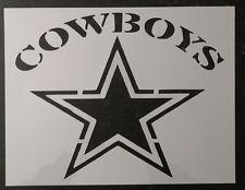 """Cowboys Dallas Star 11"""" x 8.5"""" Custom Stencil FAST FREE SHIPPING"""