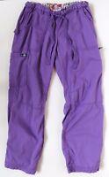 Kathy Peterson Koi PM Soft Purple Cotton Blend Drawstring Scrub Work Pants