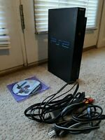 Sony Playstation 2 PS2 (FAT) Console Bundle Cords and Games Model No. SCPH-39001