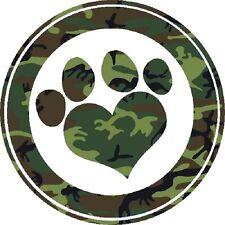 30 Custom Green Camo Paw Print Art Personalized Address Labels