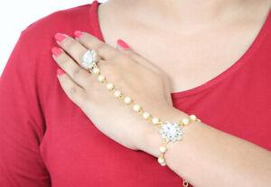Hand Panja bracelet Jewellery Golden Antique indian Hand Chain