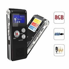 LCD Digital 8GB Diktiergerät Aufnahmegerät Musik Voice Audio Recorder Mp3 SK-012