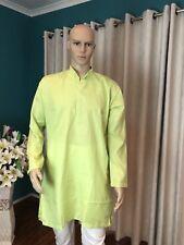 "42"" L Sherwani Suit Indian Bollywood Mens Kurtha Green Cotton Outfit Kurta KS15"