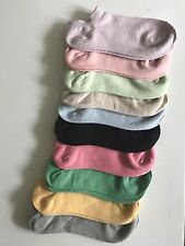 Women ankle low cut cotton socks 20 Pack