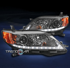 FOR 2015-2019 TOYOTA SIENNA SE LIMITED LED TUBE PROJECTOR HEADLIGHTS LAMPS SMOKE