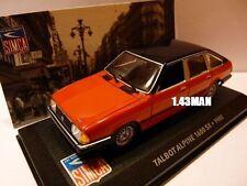 Voiture 1/43 IXO altaya SIMCA : Talbot alpine 1600 SX 1980
