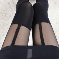 Women Socks Thigh-Highs Fake Suspenders Stockings Pantyhose Garter Belt Tights