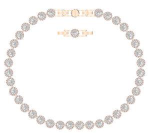 Swarovski angelic necklace white rose-gold tone plated 5367845