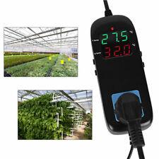 Electronic Thermostat Digital Breeding Temperature Controller w/ Socket EU Plug