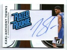 KARL ANTHONY TOWNS 2015 DONRUSS RATED ROOKIE AUTO AUTOGRAPH ROOKIE RC CARD!