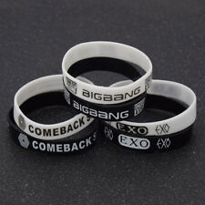 Fashion Unisex Silicone Wristband Kpop EXO BIGBANG Bracelet Jewelry Gift 5pcs