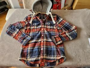 MENS CHECK SUPERDRY THICK LUMBERJACK DOODIE JACKET - SIZE 2XL