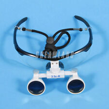 Dental Surgical Binocular Loupes Glasses Lens Magnifier 3.5X 420mm black