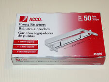 """ACCO 1 Inch Capacity Prong Fastener Set, 2.75"""" Centers,50 Complete Sets per Box"""