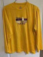 Zorrel mens Exercise Ironman New Orleans 2013 Long Sleeve Yellow Shirt Xl