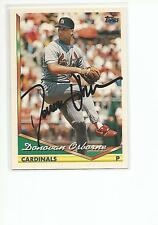 DONOVAN OSBORNE Autographed Signed 1994 Topps card St. Louis Cardinals COA