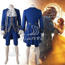 Newest Beauty and the Beast Prince Cosplay Costume Deluxe Outfit Royal Gown