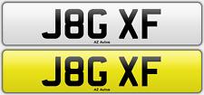 Personalised registration J8G XF (Jaguar XF)