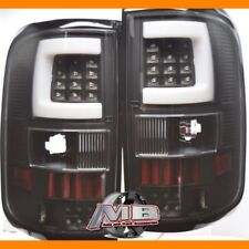 For 2004 2005 2006 2007 2008 Ford F-150 Black Clear LED Tube Bar Tail Lights 2PC