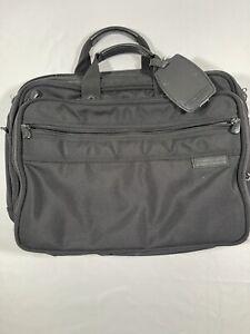Briggs & Riley Travelware Black Shoulder Bag Laptop Messenger