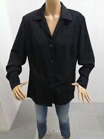 Giacca LUISA SPAGNOLI Donna Taglia Size XL Jacket Woman Poliestere Nero 7704