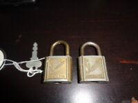 2 Vintage Slaymaker Rustless Padlocks only 1 Key
