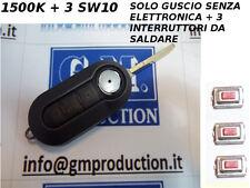 COVER CHIAVE COMPLETA NERA FIAT 500 BRAVO GRANDE PUNTO EVO E 3 INTERRUTTORI