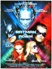 BATMAN & ROBIN Affiche Cinéma Originale / Movie Poster ARNOLD SCHWARZENEGGER