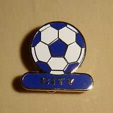 CITY FOOTBALL PIN BADGE - BIRMINGHAM / CARDIFF / LEICESTER