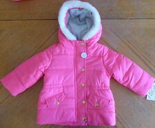 New Carter's Medium weight Winter Coat Size 18 m Girls $70 rv pink Hooded NWT