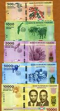 SET Burundi, 500;1000;2000;5000;10000 Francs, 2015, P-New, UNC > Redesigned