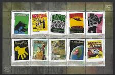 AUSTRALIA 2006 ROCK POSTERS UNMOUNTED MINT, MNH SET OF 10 IN SHEETLET