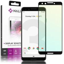 nalia Schutzglas für Google Pixel3 3d Full Cover Displayschutz Handy Folie