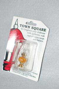 NIB Town Square Miniature Hurricane Table/Desk Lamp 12 volt/plug & extra bulb