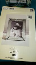 Carr etched mirror glass Czech style 5 x 7 photo frame with box