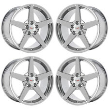 "18"" 19"" CORVETTE C6 PVD CHROME WHEELS RIMS FACTORY OEM SET 4 5208 EXCHANGE"