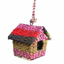 Hanging Recycled Fabric Handmade Bird House Nest Garden Ornament