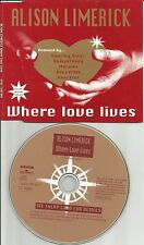 ALISON LIMERICK & FRANKIE KNUCKLES Where Love Lives 6TRX MIXES CD Paul oakenfold