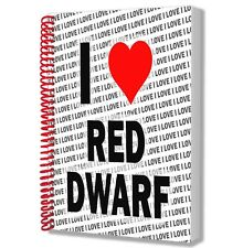I Love Red Dwarf - A5 Notebook Pad Diary Drawings Birthday Christmas Gift