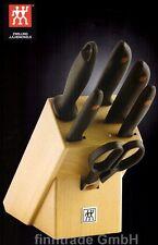 ZWILLING Messerblock Messerset TWIN POINT 7tlg incl SCHERE eisgehärtet  NEU OVP