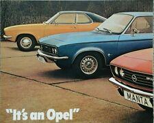 Opel All models range Sales Brochure - 1971 inc. Manta, Commodore & GT #