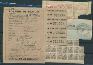 LN70416 Belgium carte de ravitaillement fine lot used
