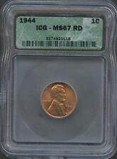 UNITED STATES 1944  LINCOLN CENT GRADED ICG MS67RD