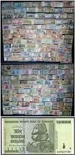 200 verschiedene BANKNOTEN alle WELT - SAMMLUNG, MIT BESSEREN wie ZIMBABWE Trill