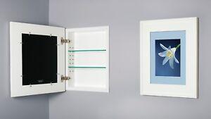 Recessed Medicine Cabinet with picture frame door, NO MIRROR, 9+ colors, 13x16