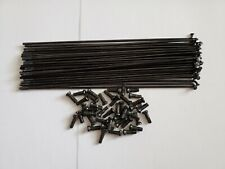 13G (2.2mm) x 184mm bike stainless steel Spokes with Nipples x 42