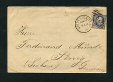 USA Brief aus Calveston/Texas 1891 nach Penig/Sachsen      (GADDR)