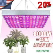 8000W Led Grow Light Full Spectrum Hydroponic Indoor Veg Flower Plant Lamp Panel